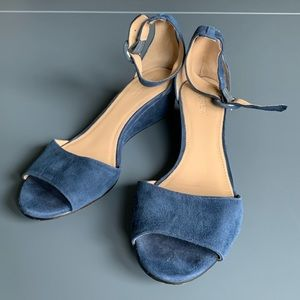 J. Crew Navy Wedge Heels